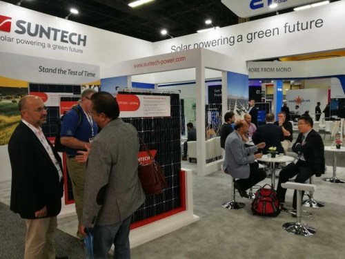 Suntech présente ses modules solaires exclusifs lors du salon 2017 Solar Power International de Las Vegas